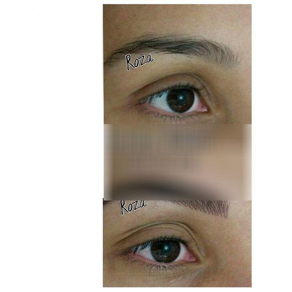 تاتو لب و خط چشم