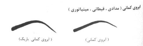 مدل ابروی کمانی بلند - عکس ابرو کمانی
