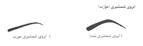 مدل ابروی شمشیری - عکس ابرو شمشیری و مورب